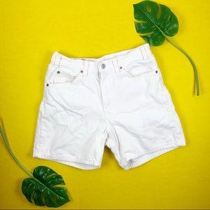 Vintage Levi orange tab white high waist shorts